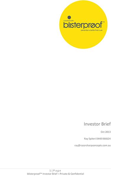 Investor Brief Blisterproof