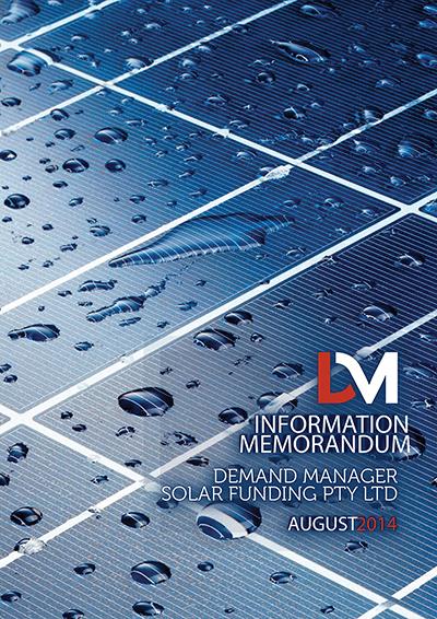 Solar Funding Pty Ltd Information Memorandum