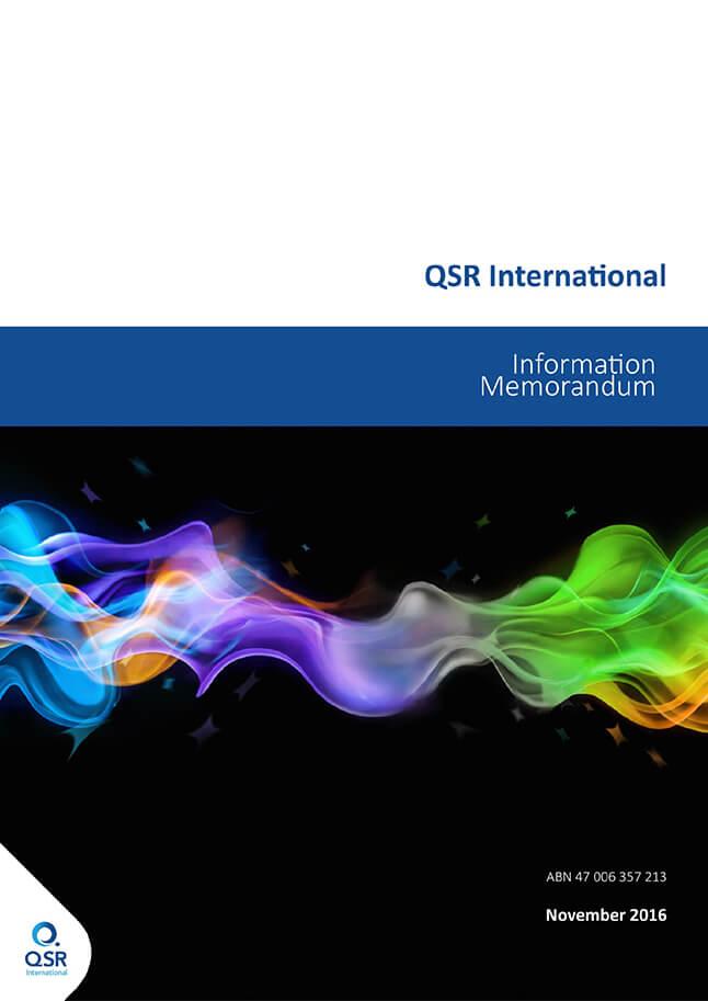 Information Memorandum - QSR International